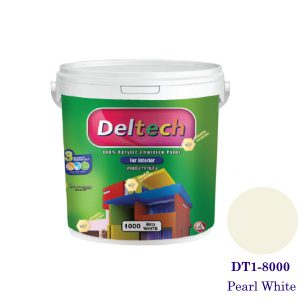 Deltech สีทาฝ้า DT1-8000 Pearl White-1gl.