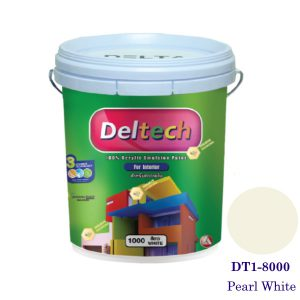 Deltech สีทาฝ้า DT1-8000 Pearl Whitee-5gl.